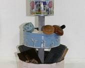 Vintage Cookie Tins, Three Tiered Stand, Display Stand