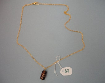 Amber Glass & Gold Necklace