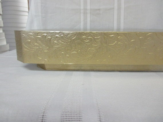 14 inch square wedding cake stand wedding cake stand 14 inch square gold floral leaf cake 10047