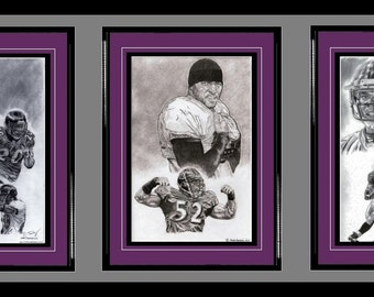Baltimore Ravens ART- Ed Reed, Ray Lewis & Ray Rice