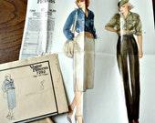 Vogue Pattern 7292 Womens Shirt Blouse, Skirt, Pants 1970's Size 8