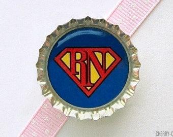 Super Nurse Bottle Cap Magnet - male nurse gifts, for nurse, nursing student gifts, nursing school graduation party favors, nurse magnets
