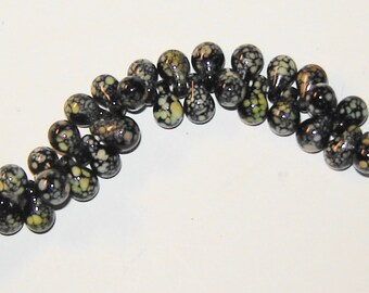 10, 20 or 30 (10x6mm)Unicorn Beads,Pebble Beads,Tear Drop Beads, ADDISION, Black,White,Cream,Gold,Glass Beads,Lampwork,Handmade Beads(peb-3)