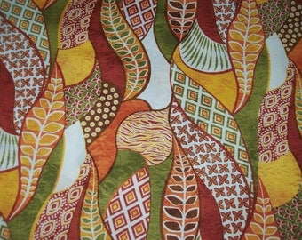 Organic Geo Cotton Ethnic Print Fabric Sold Per Fat Quarters for Quilting, Crafting, Decorating, Clothing & more.