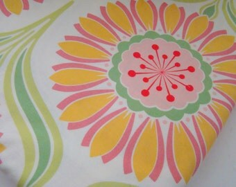 Pop Garden Fabric by Heather Bailey, Pop Daisy Rose, Quilting Fabric, OOP HTF