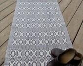 Handwoven Area Rug, Handwoven Wool Rug, Blue and Cream Wool Rug, Woven Wool Floor Rug, Overshot Area Rug, Hand Loomed Rug, Hand Made Rug
