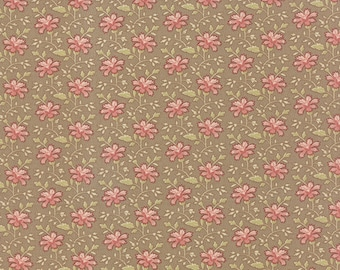 Country Orchard - Trailing Floral in Dry Earth by Blackbird Designs for Moda Fabrics