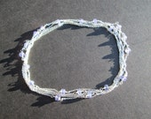 Tanzanite gemstone sterling silver infinity necklace or 6-loop bracelet- December birthstone
