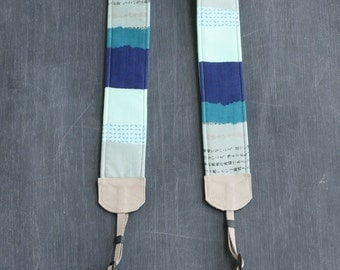 padded camera strap indigo aqua red - BCPCS005