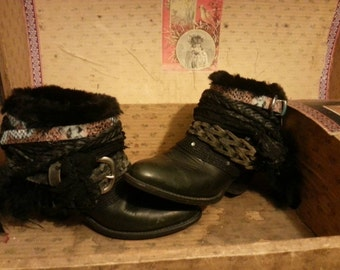 Sold Upcycled reworked vintage cowgirl boots.