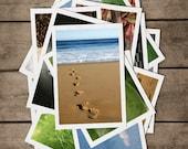 POSTCARDS Set of 4. Solitude. Australia, Postcrossing, Footsteps, Book, Ocean, Tree, Beach, Sand, Sun,