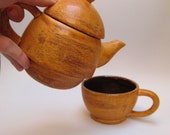 Pumpkin Spice and Walnut Teapot and Cup set