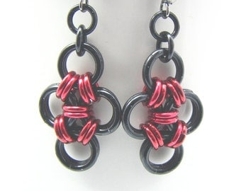 ON SALE Galerina Chainmaille Earrings - Morte Collection - Choose Your Color