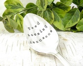 Stamped Spoon. Good Morning Handsome. Valentine's Day. His Coffee Spoon. Gift for Him. Personalized. Monogrammed. Vintage Silverware. 555SP