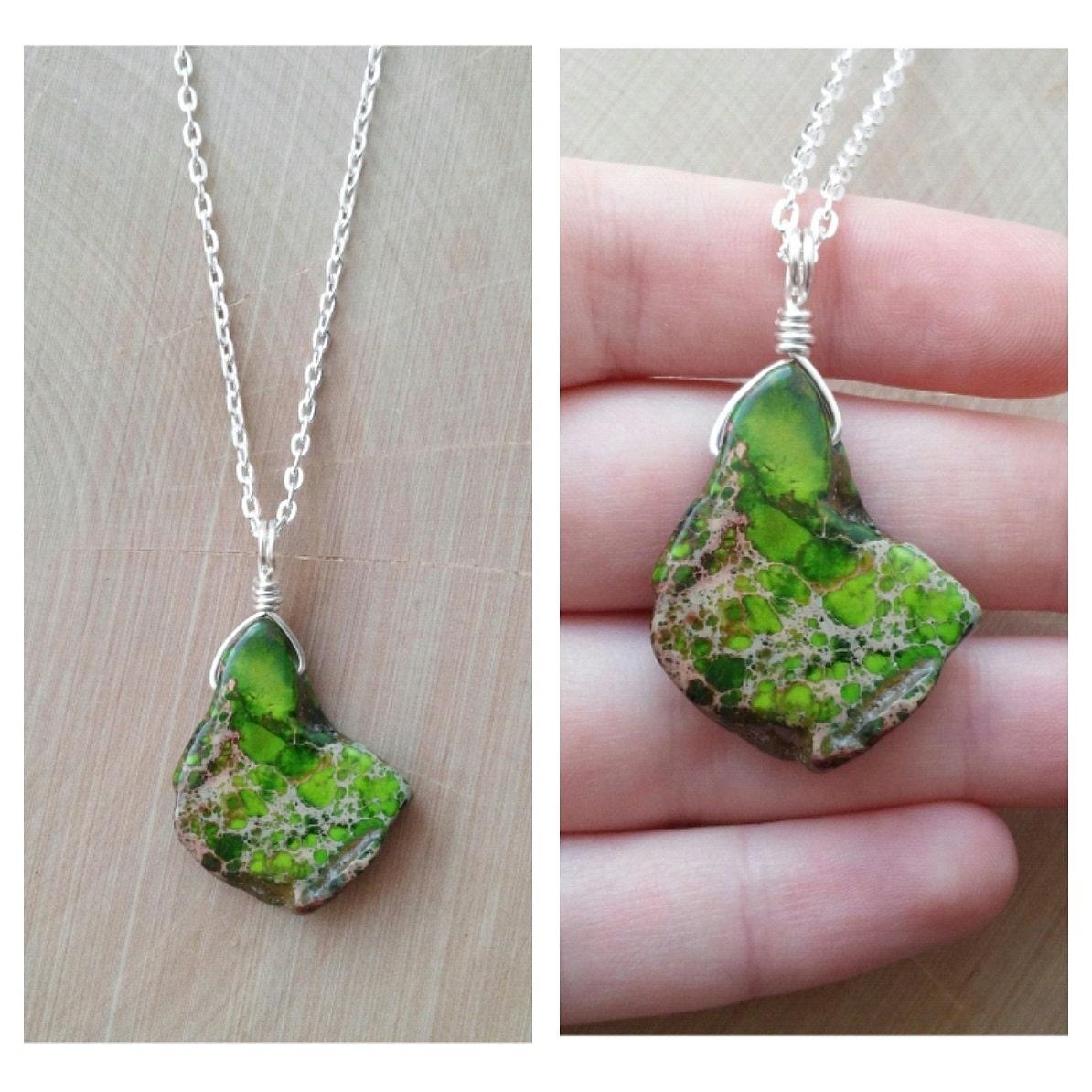 Verde Imperial Jasper Necklace By Drunkenmermaid On Etsy