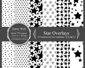 Star Digital Overlay Templates for Commercial Use PNG Instant Download Designers Resource Kit