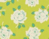 SALE One Yard Lottie Da - Vintage Rose in Lime by Heather Bailey