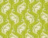 SALE One Yard Lottie Da - Featherleaf in Green by Heather Bailey