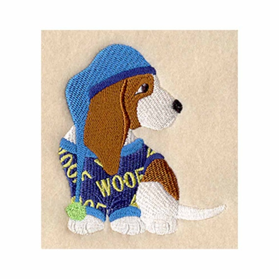 Basset Hound In Pajamas Tea Towel Kitchen By