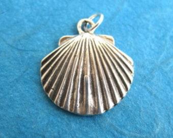 Sterling Silver Scallop Sea Shell Charm