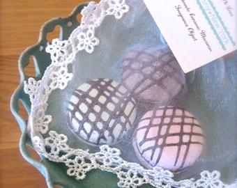 Handmade Ceramic Macaroon-Sweet Interior Ceramic Macaron Sachet-Fragrance Object, Essential Oil Diffuser, Air Freshener