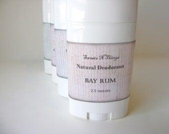 Bay Rum Deodorant, Deoderant Stick, Natural Corn Free Formula