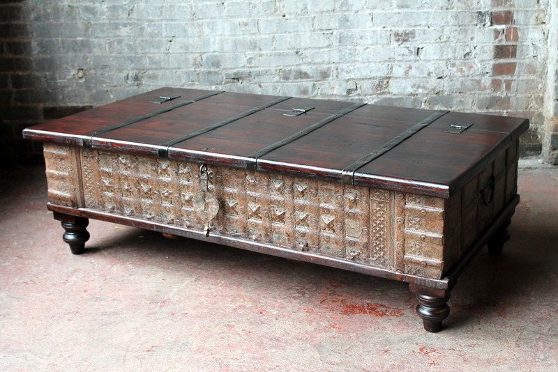 Reclaimed Trunk Coffee Table Brick Red And By Hammerandhandimports