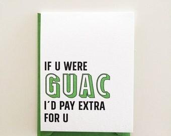 Guac Funny Love Card
