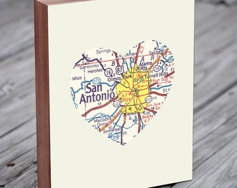 San Antonio Texas - San Antonio Art - San Antonio Map