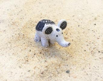 SALE !! elephant polymer clay animal figurine