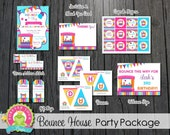 Bounce Party Package / Bounce House Invitation / Bounce Party / Bounce Party Invitation / Bounce Party Printables