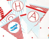 Airplane Birthday Banner / Airplane Party Banner / Airplane Birthday / Airplane Party / Airplane Printables / INSTANT DOWNLOAD