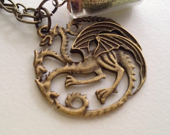 Targaryen Dragon Necklace. Game of Thrones. ASOIAF.