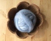 Wool roving supply for needle felting, Ice Blue Heather, 1 ounce