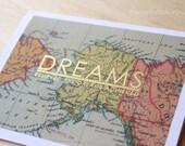 Handmade Graduation Card, Dreams Believed Are Dreams Achieved