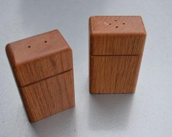 Vintage set of wooden  Salt & Pepper Shakers