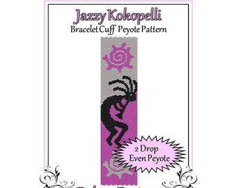 Bead Pattern Peyote(Bracelet Cuff)-Jazzy Kokopelli