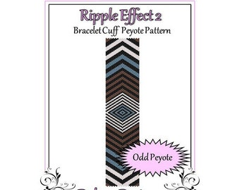 Bead Pattern Peyote(Bracelet Cuff)-Ripple Effect 2