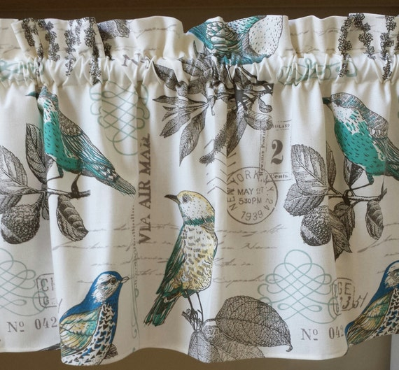 Curtains With Bird Pattern