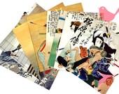 Scrap Pack - Japanese origami paper ephemera, paper scraps Lot 3