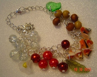 PAGAN FOUR ELEMENTS Charm Bracelet - Air, Fire, Water, Earth