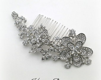 Wedding hair comb, bridal hair accessories, wedding rhinestone hair comb, bridal hair comb crystal, statement hair comb - 10% off HC02