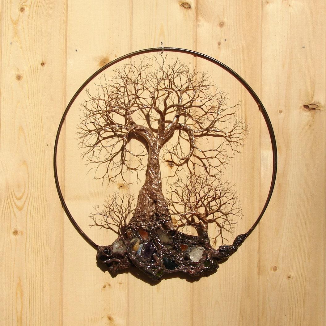 tree of life sculpture wall decor forest spirit quartz. Black Bedroom Furniture Sets. Home Design Ideas