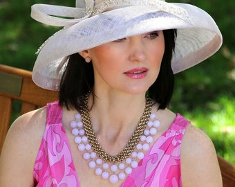 Kentucky Derby hat, Royal Ascot hat, Summer hat, classic straw hat, couture hat, hat, wedding