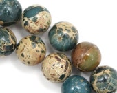 Aqua Terra Jasper Beads - 12mm Round - Half Strand