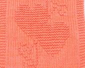 Knitting Cloth Pattern - TWO HEARTS - PDF