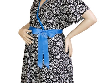 Maternity Hospital Delivery Gown - Avery Blue