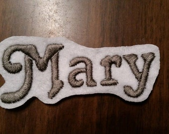 Personalized Embroidered Name Patch