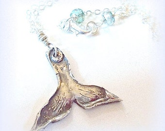 SUMMER Jewelry Whale's Tail Handmade Sterling Carved Necklace  ~ Ocean Lover Beach Jewelry, Fishing Jewellery Yourdailyjewels
