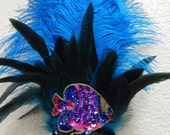 Sea of LOVE Samba Dance Headpiece Ostrich Feather Headdress